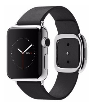 Apple Watch 38mm Stainless Steel Black Modern