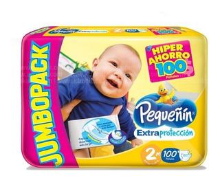 Pañal Pequeñin Extra Proteccion Etapa 2 X 100 Unidades
