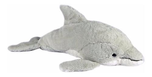 Golfinho De Pelúcia Cinza - 65cm - Animal Marinho