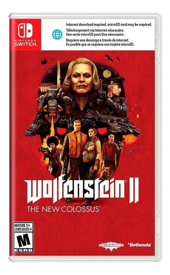 Wolfenstein Ii The New Colossus Switch Mídia Física Lacrado