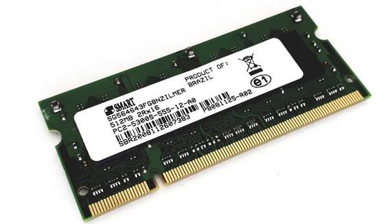 Memoria Notebook 512mb Ddr2 Pc2-5300s 555-12 2rx16 Smart