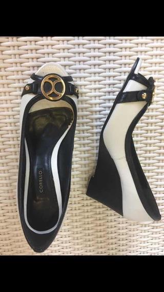 Sapato Corello Preto/beige 37 Novo