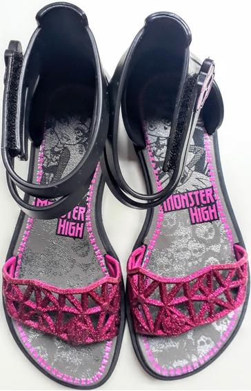 Sandalia Infantil Monster High Preta Otimo Estado + Brinde