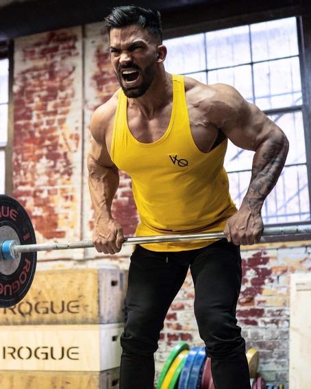 Vanquish Fitness Camiseta Olimpica Essential Tank Yellow