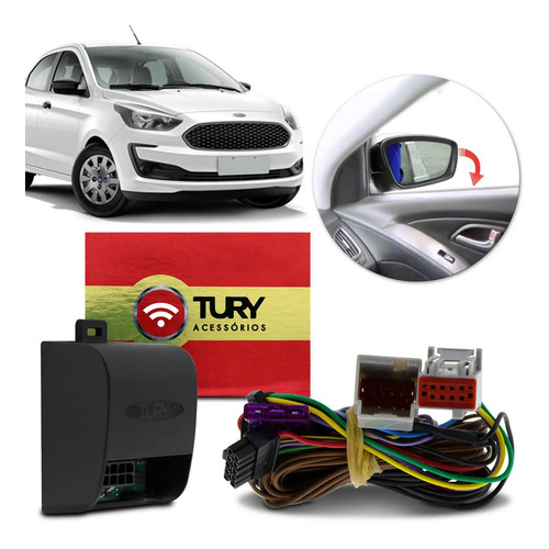 Módulo Rebatimento Retrovisor Elétrico Ford Ka Hatch Ka+ Sedan 2019 2020 Tilt Down Plug And Play Tury Park 1.50.0 Bx