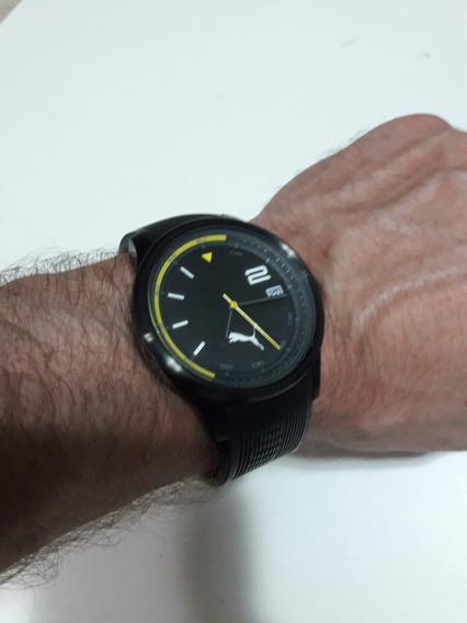 Relógio Puma Modelo 102731 Preto Com Pulseira Em Borracha