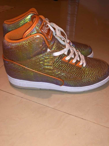 Zapatillas Nike Phyton (jordan 2 Silueta )iridiscent 10.5us