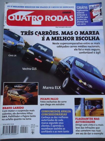 Quatro Rodas 457 Cuba - Civic Vectra Marea Ferrari 456m Gt