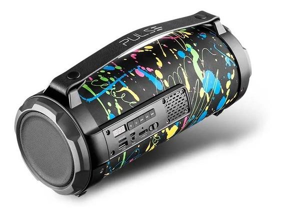 Caixa De Som Bluetooth Pulse Sp361 Paint Blast Bazooka 80w