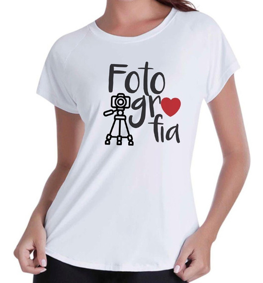 Camiseta Camisa Blusas Femininas Fotografia Curso