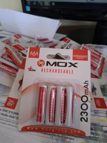 Pilhas Aaa Mox Recarregável 4 2300mah