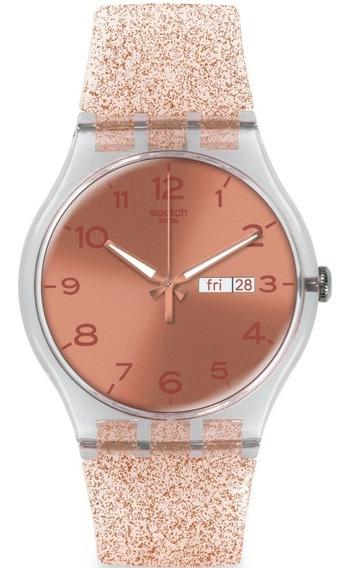 Relógio Swatch Pink Glistar - Suok703