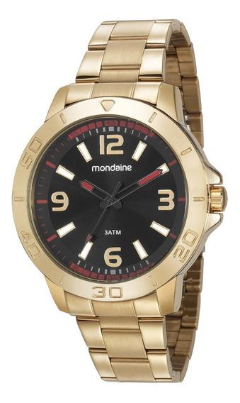 Relógio Mondaine Masculino Analógico Dourado Original E Nf-e