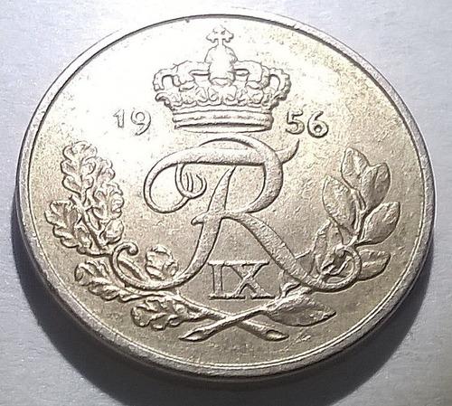 Dinamarca 10 Ore 1956 - Frederik Ix - Km#841.2 - Joya !!!