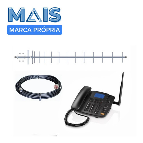 Kit Completo Telefone Rural Celular Desbloqueado Quadriband
