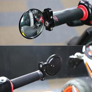 Espejos Motos Bobber Clubman Cafe Racer 7/8 Ajustables Negro
