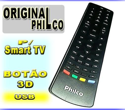 Controle Remoto Philco Tv Smart 3d Original