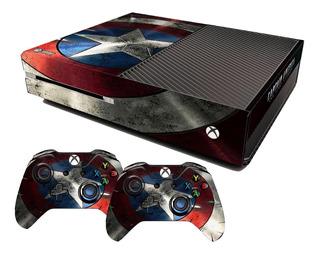 Skin Xbox One Fat Escudo Capitão América B