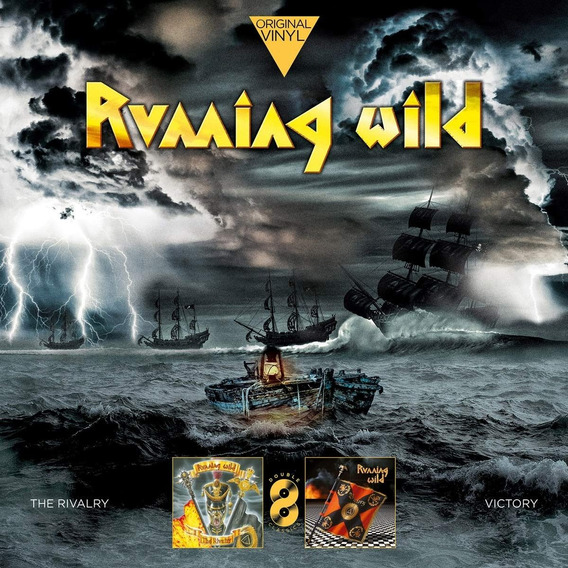 Running Wild - The Rivalry + Victory Lp Vinil Pronta Entrega