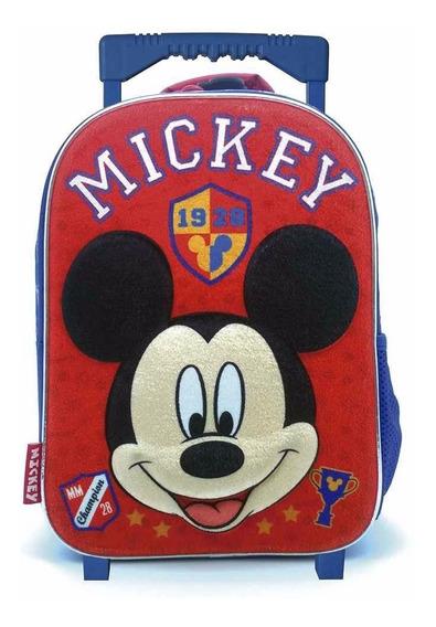 Mochila Carro Jardin 12p Mickey Disney Plush Mundo Team