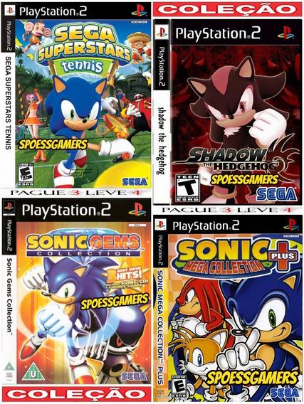 Sonic Ps2 Coleção (4 Dvds Por 3) Patch . G M S T