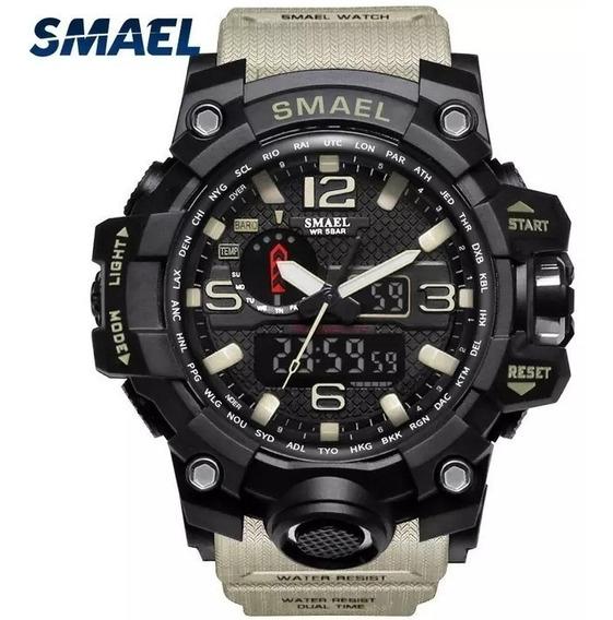 Relógio Militar Smael Analógico Digital + Brinde