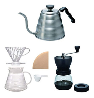 Hario V60 Kettle, Brewer Set & Coffee Mill