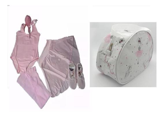 Roupa Kit Para Aula Ensaio De Bale Ballet E Bolsa