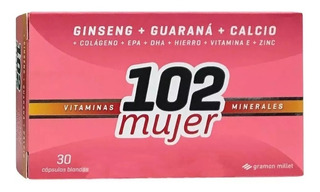 102 Mujer Vitaminas Minerales Suplemento 30 Cápsulas