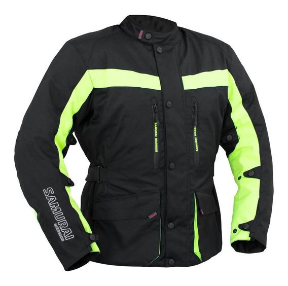 Campera Moto Samurai Liverpool Amarillo Touring Protecciones To