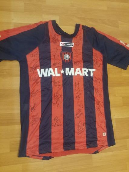 Camiseta San Lorenzo 2008 Firmada Por Los Jugadores