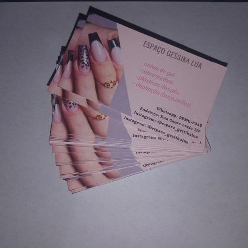Imagem 1 de 2 de Cartão De Visita Papel Cartão 240g 1000unds