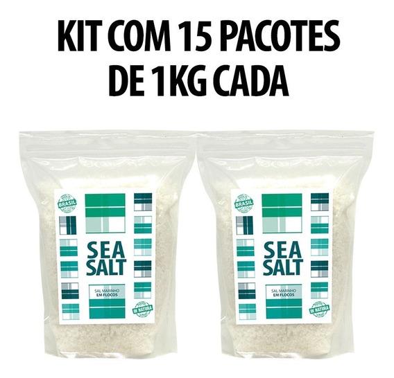 Sal Marinho In Natura - 15 X 01 Kg (15 Kg) 100% Natural