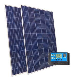 Kit Solar 2 Paneles 160w + Regulador Carga 20 Amper 12v 24v