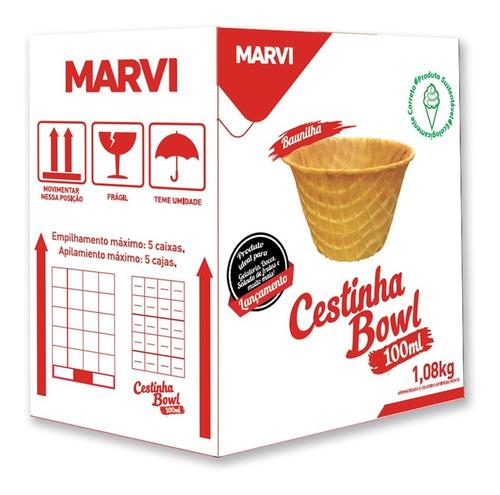 Mini Cestinha Bowl 100ml Marvi C/120 Baunilha