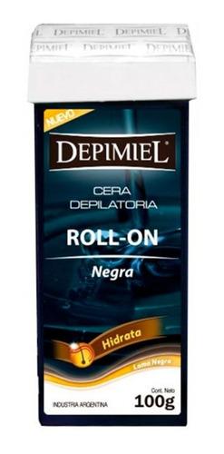 Cera Depilatoria Roll On Negra Depimiel Descartable X 100