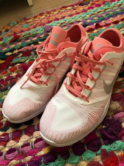 Tênis Nike Feminino 38 Branco E Rosê
