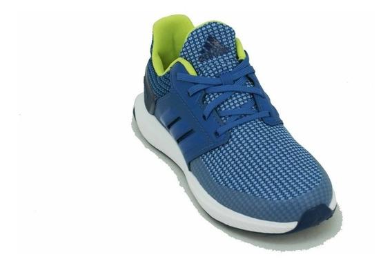 Zapatilla adidas Rapidarun Azul/verde Niño Deporfan