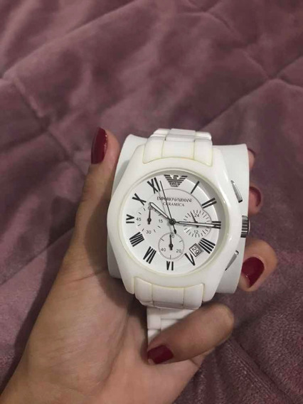 Relógio Armani Cerâmica, Usado, Conservado, Branco.