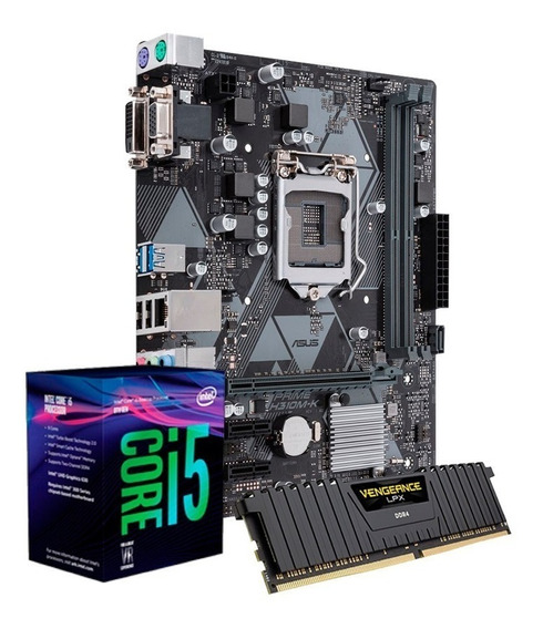 Kit I5 8400, Placa Asus H310, 8gb Ddr4 2666 Corsair Lpx + Nf