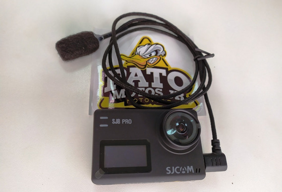 Sj8 Pro Sjcam + Microfone Motovlog Pato Motos Jr Sem Juros