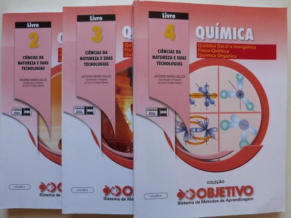 Livro: Química Coleção Objetivo Livros 2, 3 E 4