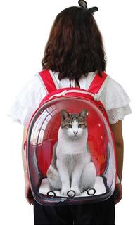Mochila Bolso Mascota Gato Perro Capsula 360 Transportadora