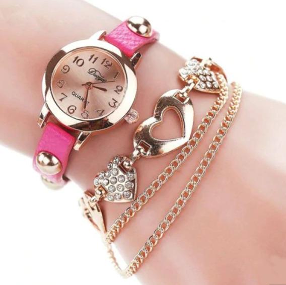 Relógio Feminino Pulseira Barato Importado Elegante Bonito