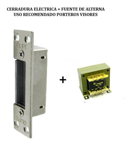 Cerraduras Electricas Con Fuente Para Portero Visor