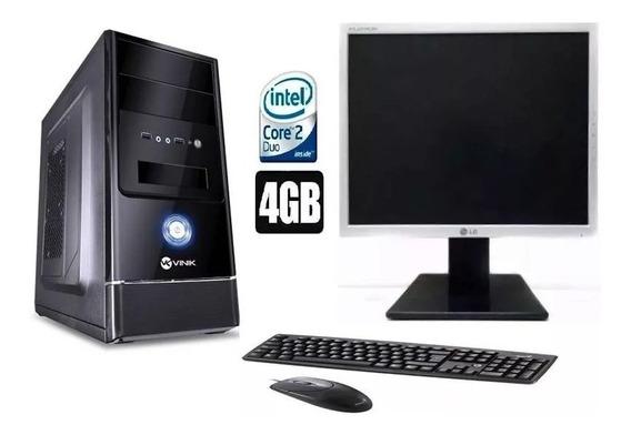 Cpu Completo Core 2 Duo 4gb Ram Hd 320gb Wifi Moni17#barato