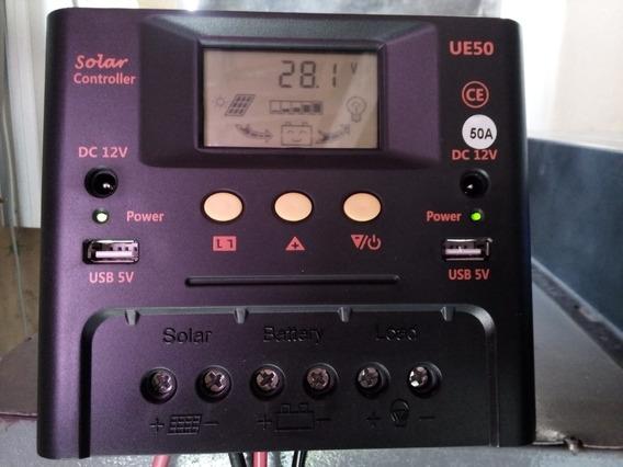 Controlador Solar 50 Amperes Pwm 12/24vcc - Ótimo Preço!