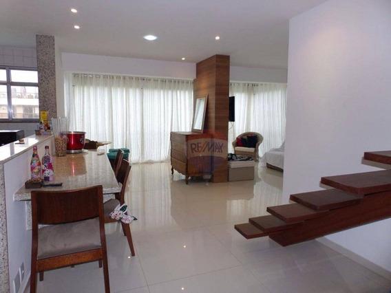 Vivendas Marapendi - Cobertura Duplex Com 2 Suítes, Na Praia, 181 M² - Barra Da Tijuca - Co0058