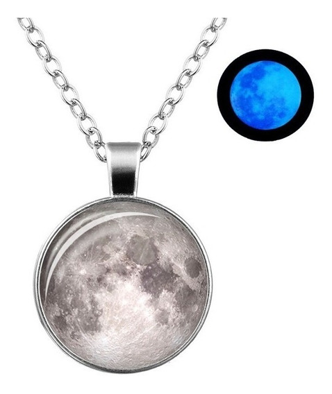 Collar Luna Llena Brilla En La Obscuridad Moonlight