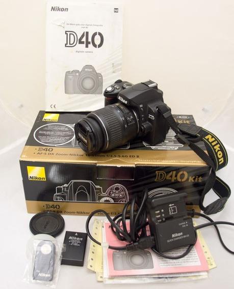 Camera Nikon D40 Com Lente Profissional 18-55mm